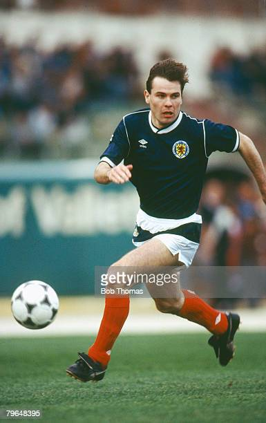 22nd March 1988 Friendly International in Valetta Brian McClair Scotland Brian McClair played for Manchester United 19871997 and won 30 Scotland...