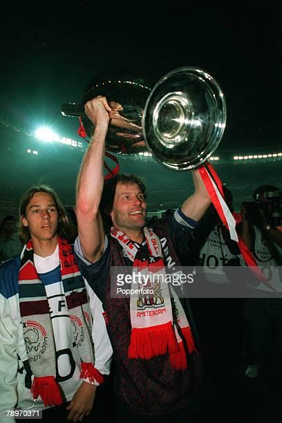 24th May 1995 UEFA Champions League Final Ajax Amsterdam 1 v AC Milan 0 Ajax captain Danny Blind holds aloft the trophy