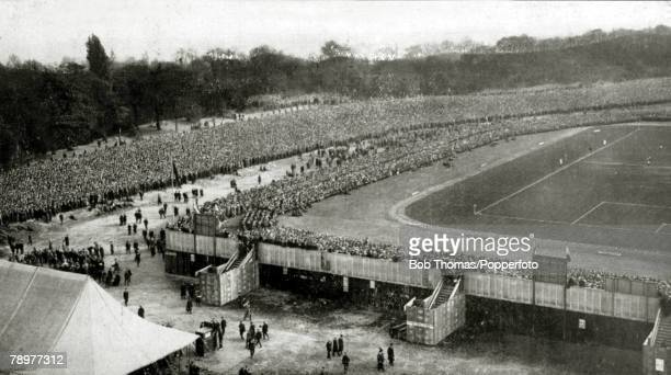 25th April 1914 FA Cup Final at Crystal Palace Burnley 1 v Liverpool 0 A general view of the ground and spectators at Crystal Palace