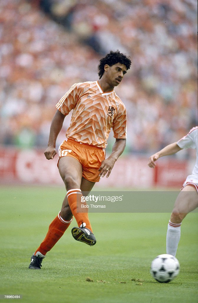 25th June 1988, European Championship Final, Holland 2 v U,S,S,R,0, Frank Rijkaard, Holland, who was to win 73 Holland international caps
