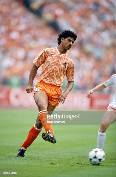 25th June 1988 European Championship Final Holland 2 v USSR Frank Rijkaard Holland who was to win 73 Holland international caps