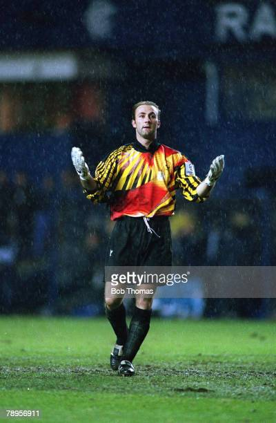 25th November 1992 UEFA Champions League Rangers 2 v Marseille 2 Marseille goalkeeper Fabien Barthez