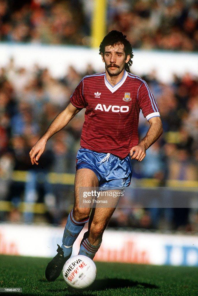 26th December 1986,Tottenham Hotspur 4, v West Ham United 0, Alan Devonshire, West Ham United
