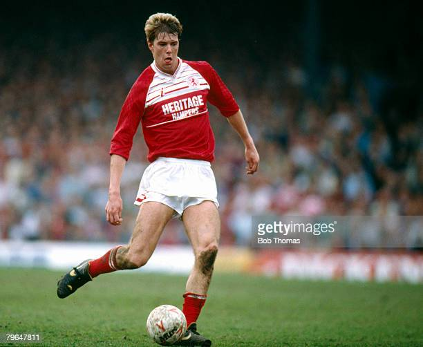27th March 1989 Division 1 Middlesbrough 3 v Everton 3 Gary Pallister Middlesbrough who went on to win 22 England caps between 19881997