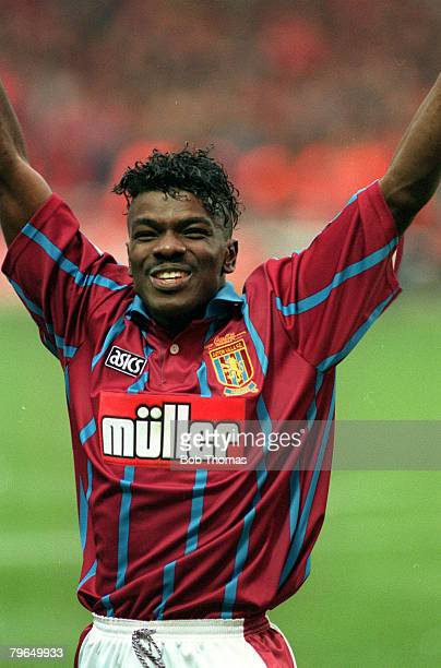 27th March 1994 Coca Cola Cup Final at Wembley Aston Villa 3 v Manchester United 1 Tony Daley Aston Villa