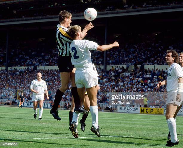 27th May 1990 Division 3 Play Off Final at Wembley Tranmere Rovers 0 v Notts County 2 Notts County's Craig Short wins a header to score his goal