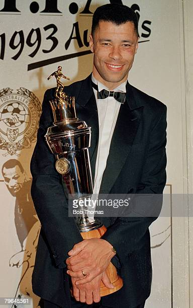 28th March 1993 PFA Awards in LondonPaul McGrath Aston Villa and Republic of Ireland the PFA Player of the Year Paul McGrath won 83 Republic of...
