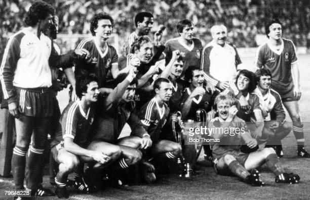 28th May 1980 European Cup Final in Madrid Nottingham Forest 1 v SVHamburg 0 Nottingham Forest 1980 European Cup winners with captain John McGovern...