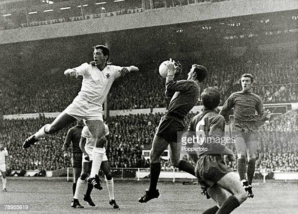 29th May 1968 European Cup Final at Wembley Manchester United 4 v Benfica 1 Manchester United goalkeeper Alex Stepney makes the save to end a Benfica...