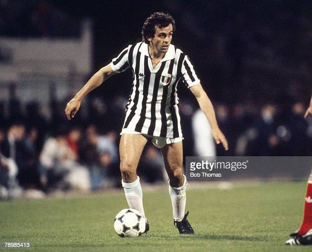 29th May 1985 European Cup Final in Brussels Liverpool 0 v Juventus 1 Michel Platini Juventus who also won 72 France interational caps between...