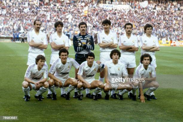 29th May 1985 UEFA Cup Final 2nd Leg Real Madrid 0 v Videoton 1 Real Madrid won 31 on aggregate Real Madrid team group Among those pictured not in...