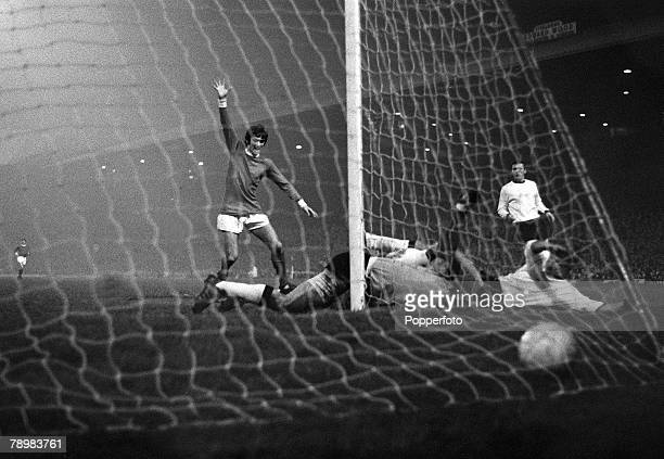29th November 1967 European Cup 2nd Round 2nd Leg Manchester United 2 v Sarajevo 1 at Old Trafford Manchester United's George Best has scored the 2nd...