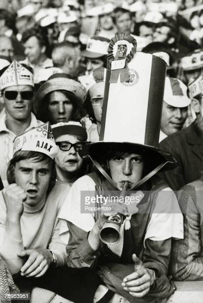 2nd June 1971 European Cup Final at Wembley Ajax Amsterdam 2 v Panathinaikos 0 The Dutch fans of Ajax vastly outnumbered their Greek counterparts in...