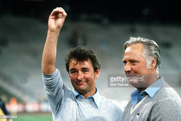 30th May 1979 European Cup Final in Munich Nottingham Forest v Malmo Nottingham Forest managerial partnership Brian Clough and his assistant Peter...
