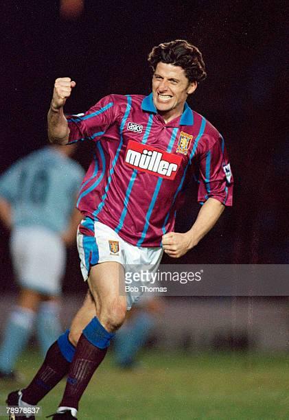 31st December 1994 Premiership Manchester City 2 v Aston Villa 2 Aston Villa's Andy Townsend celebrating his goal Andy Townsend a Republic of Ireland...