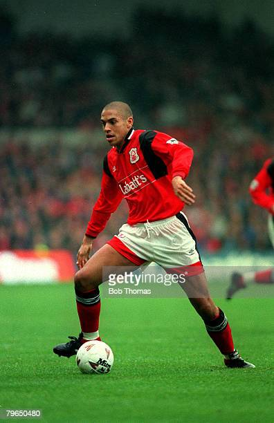3rd October 1994 Premiership Nottingham Forestv Queens Park Rangers Stan Collymore Nottingham Forest Stan Collymore had a colourful football career...