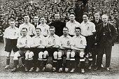 4th April 1925 International Football Scotland 2 v England 0 in Glasgow England team Back row leftright Tommy Magee Billy Ashurst Robert Kelly Dick...
