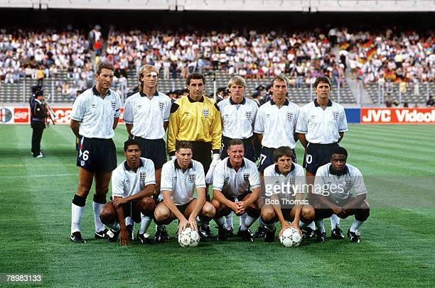4th July 1990 1990 World Cup Finals Semi Final in Turin West Germany 1 v England 1 aet West Germany win 43 on penalties England team back row...