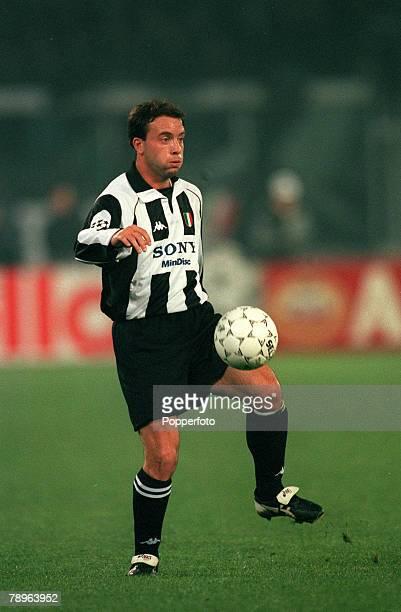 4th March 1998 UEFA Champions League Quarter Final Ist Leg Juventus 1 v Dynamo Kiev 1 Alessandro Birindelli Juventus