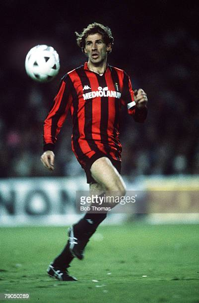 5th April 1989 Madrid Spain European Cup SemiFinal Ist Leg Real Madrid 1 v Barcelona 1 Franco Baresi ACMilan