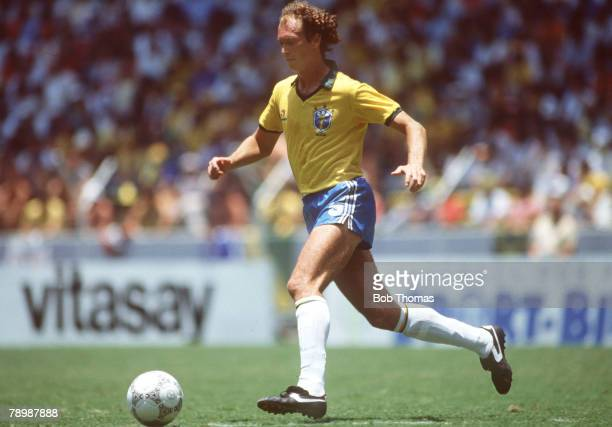6th June 1986 1986 World Cup Finals in Guadalajara Mexico Paulo Falcao Brazil