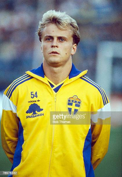 6th September 1989 World Cup Qualifier in Stockholm Jonas Thern Sweden
