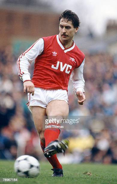 8th February 1987 Littlewoods Cup SemiFinal 1st Leg Arsenal 0 v Tottenham Hotspur 2 Kenny Sansom Arsenal full back 19801989 who also won 86 England...