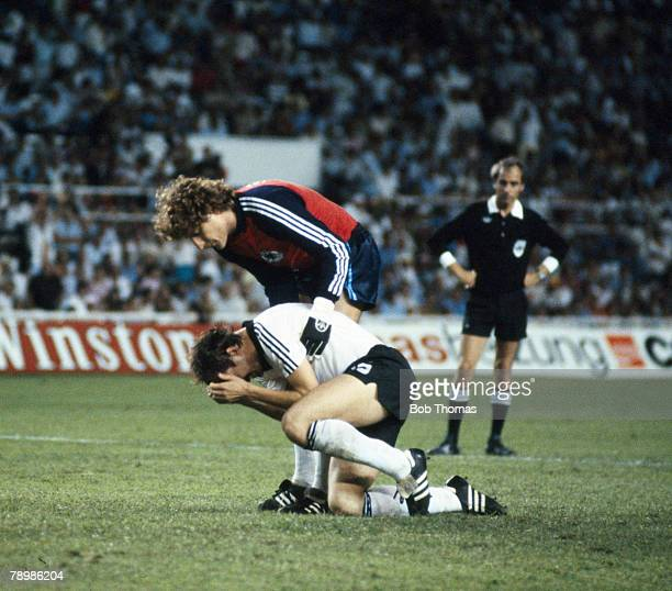 8th July 1982 1982 World Cup Finals in Spain France 3 v West Germany 3 in Seville West Germany win on penalties West Germany goalkeeper Harald...