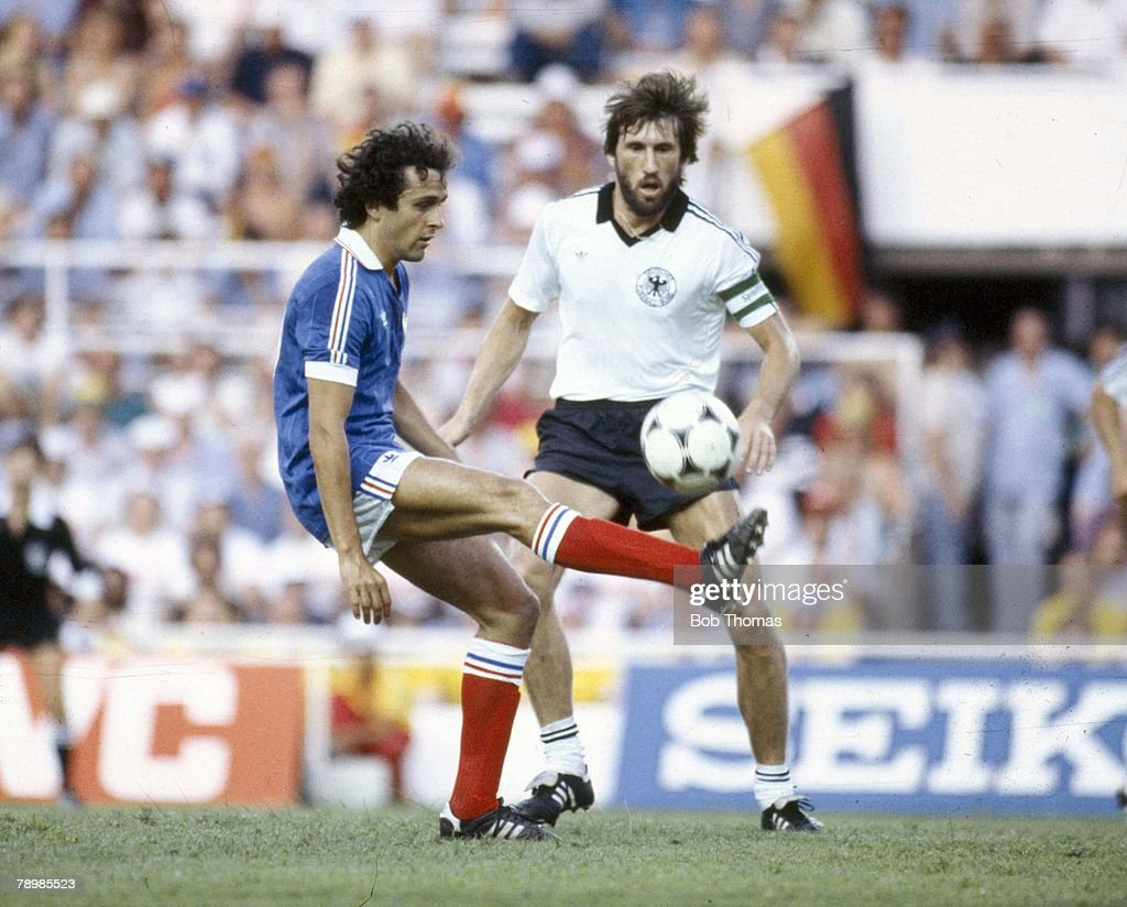 Sport Football pic 8th July 1982 World Cup Semi Final in