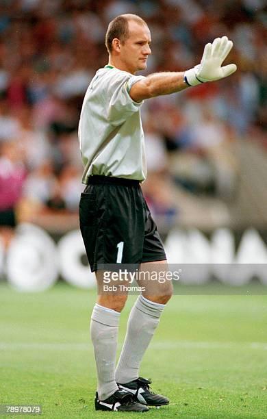 8th June 1997 Tournoi de France Lyon Brazil 3 v Italy 3 Claudio Taffarel Brazil goalkeeper