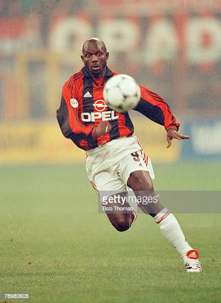 8th November 1998 AC Milan 2 v Inter 2 George Weah AC Milan striker