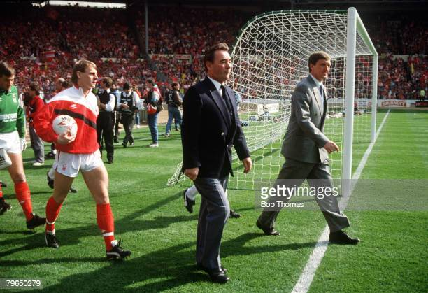 9th April 1989 Littlewoods Cup Final at Wembley Luton Town 1 v Nottingham Forest 3 Nottingham Forest Manager Brian Clough leads out the team followed...