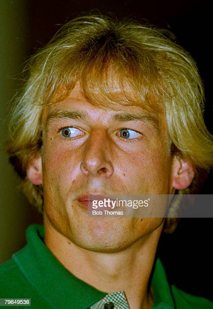 August 1994 Jurgen Klinsmann Tottenham Hotspur 19941997pictured at a press conference at White Hart Lane that introduced him to the club Jurgen...