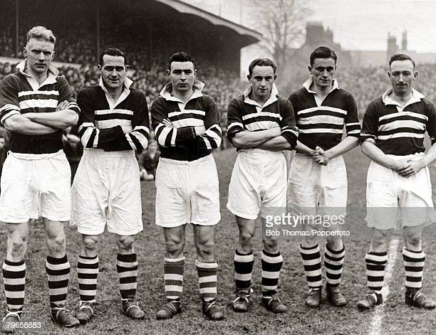 circa 1948 Northampton Town's lr Harry Lowery Jack Sankey Edwin Blunt Tommy Fowler THughes Northampton Town at this time were members of the Third...