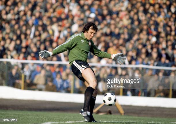 circa 1980 Jan Tomaszewski Poland goalkeeper who found fame by being labelled a clown by Brian Clough before a 1973 World Cup Qualifier and then...