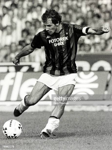 circa 1980's Franco Baresi ACMilan Franco Baresi was a stalwart in the AC Milan defence for many years and a regular Italian international player