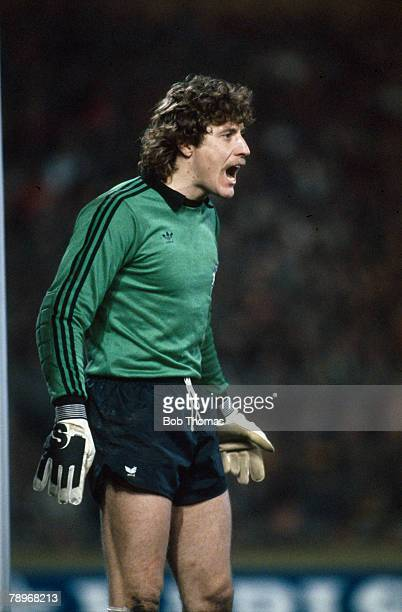 circa 1982 Harald Schumacher West Germany goalkeeper who won 76 international caps for West Germany and played in 2 World Cups 1982 a losing finalist...