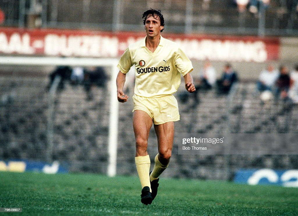 circa 1984 Johan Cruyff Feyenoord 19831985 Johan Cruyff one of the greatest players of all time won 48 international caps for Holland
