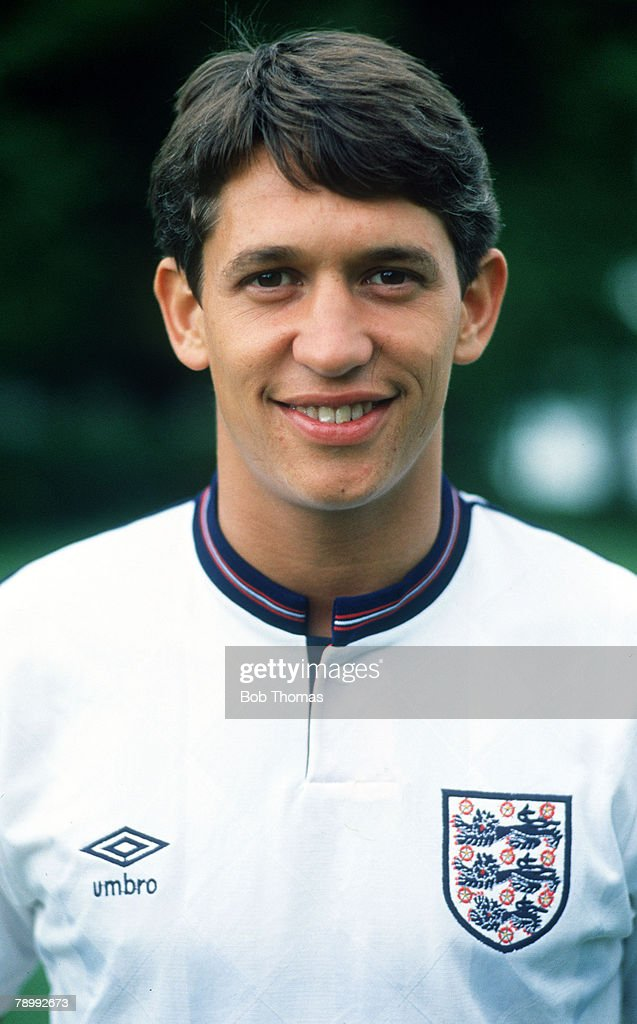 circa 1989, Gary Lineker, England, who played for Leicester City, Everton, Barcelona and Tottenham Hotspur, winning 80 England caps from 1984-1992