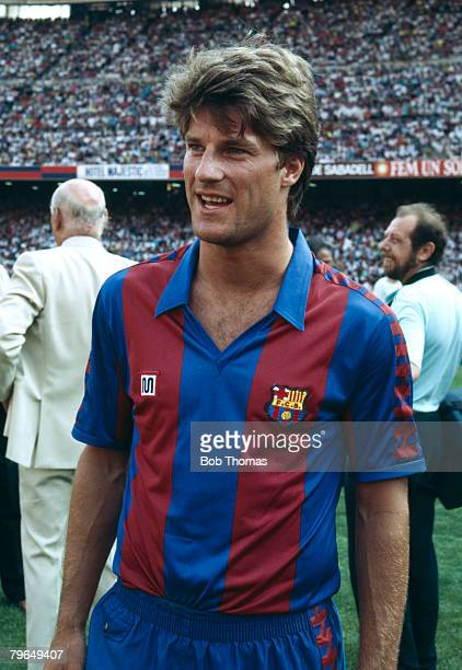 circa 1990 Spanish League Michael Laudrup Barcelona 19891994