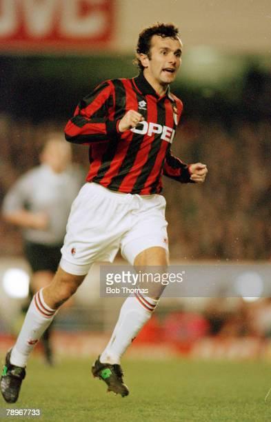 February 1995 Super Cup Arsenal 0 v AC Milan 0 Dejan Savicevic AC Milan