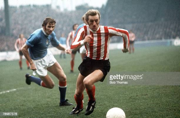 January 1973 Division 1 Stoke City's George Eastham moves past Manchester City's Tony Book