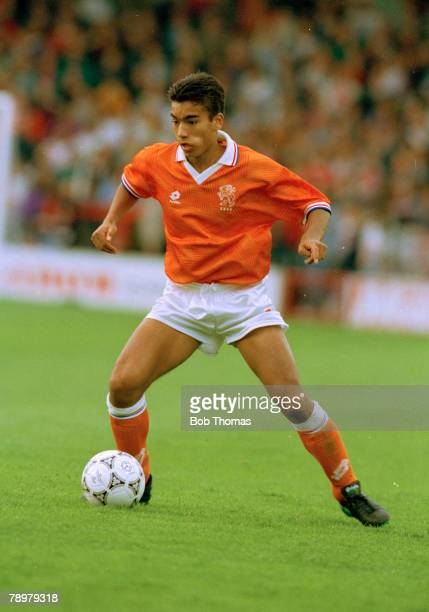July 1993 European Under 18 Championship England v Holland Giovanni Van Bronckhorst Holland