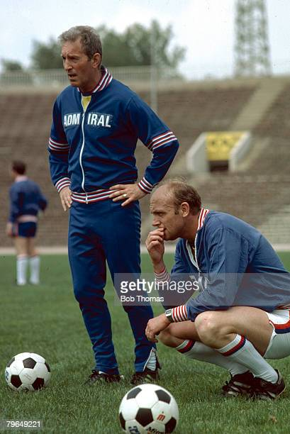 June 1979 England Training Sofia England Coach Don Howe right with Dave Sexton