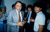 June 1984 Napoli's new signing Diego Maradona with the Napoli President Corrado Ferlaino