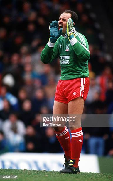 March 1988 Bruce Grobbelaar Liverpool goalkeeper