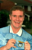 1992 Paul Gascoigne is proud and happy to wear the Lazio colours