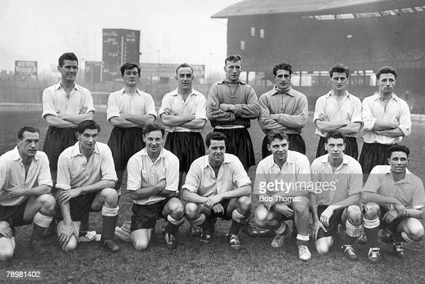 29th November 1955 The England team who trained at Stamford Bridge before the international match at Wembley against Spain which England won 41...