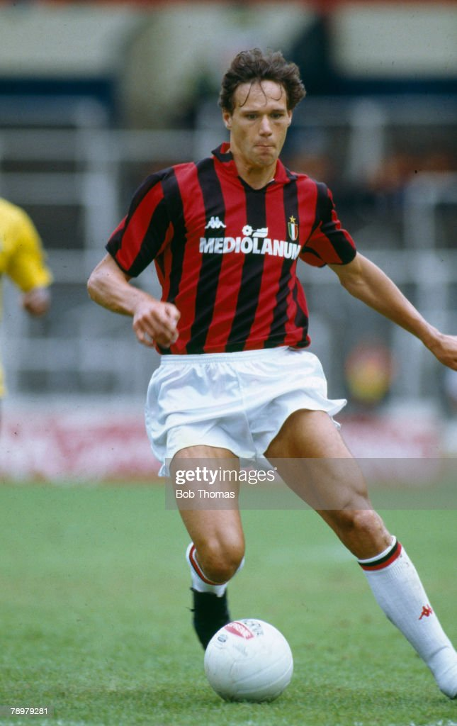 August 1988 Wembley International Tournament Marco Van Basten AC Milan Marco Van Basten won 58 international caps for Holland between 19831992