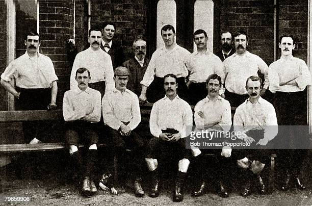 Sport Football Preston North End English FACup winners 1889 beating Wolverhampton Wanderers 30 at Kennington Oval Preston North End Back row LR...
